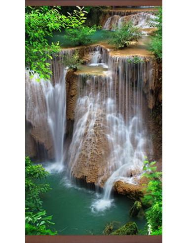 Инфрачервен нагревател - 450W, тип картина зелен Водопад