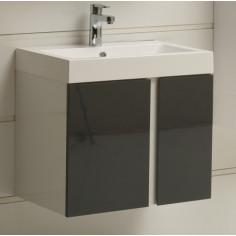 PVC мебел за баня с умивалник Зора, с две вратички