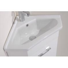 PVC мебел за баня с умивалник Rimini, ъглов