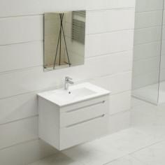 PVC мебел за баня с умивалник Мелани, с две чекмеджета