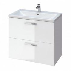 Шкаф под умивалник 80 см, бял