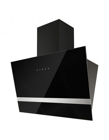 Скосен стъклен абсорбатор - 60 см, черен