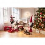 Коледна фигурка Гном с разтегателни крачета - до 120 см