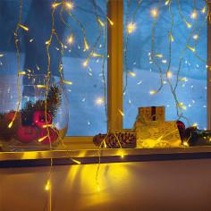Imagén: Коледна LED завеса - 290x60 см, 120 диода