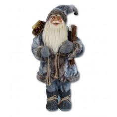 Дядо Коледа със сив кожух - 30 см