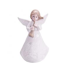 Коледна фигурка - Ангелче с флейта