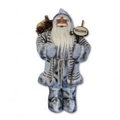 Дядо Коледа със сиво палто - 60 см