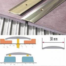 Преходна лайсна AL/LPOR -CO-09 (сребро) 0,9 м, 38 mm