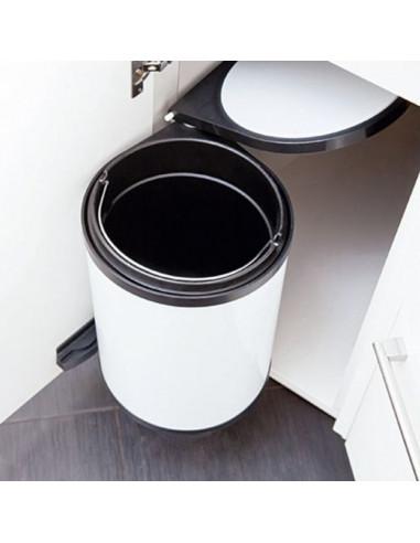 Кошче за боклук 12 л - за вграждане, бяло