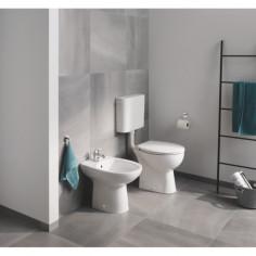 Стояща тоалетна без ръб Grohe Bau Ceramic, хоризонтално оттичане