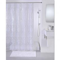 Завеса за баня Damask, 180х200 см, бяла