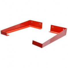 Декоративна конзола, метална, червена, 235 мм, 2 броя