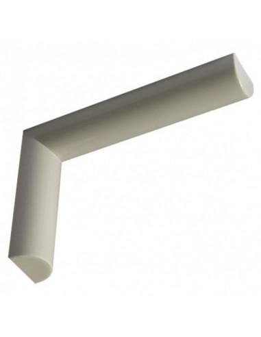 Декоративна конзола Design, бяла, 124x38x185 мм