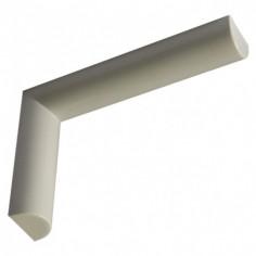 Декоративна конзола Design, бяла, 155x38x235 мм