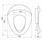 Детска тоалетна седалка, вътрешна част (адаптор) -0 размери на чертежа