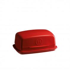 """Керамичен съд за масло """"BUTTER DISH"""" - цвят червен - EMILE HENRY"""