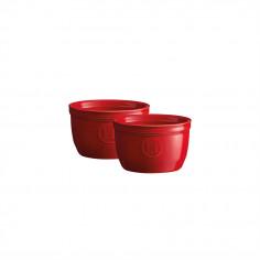 """Комплект 2 броя керамични купички / рамекини """"RAMEKINS SET N°9"""" - цвят червен - EMILE HENRY"""