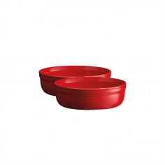 """Комплект 2 броя керамични купички за крем брюле """"2 CRÈME BRÛLÉES RAMEKINS SET""""-  цвят червен - EMILE HENRY"""