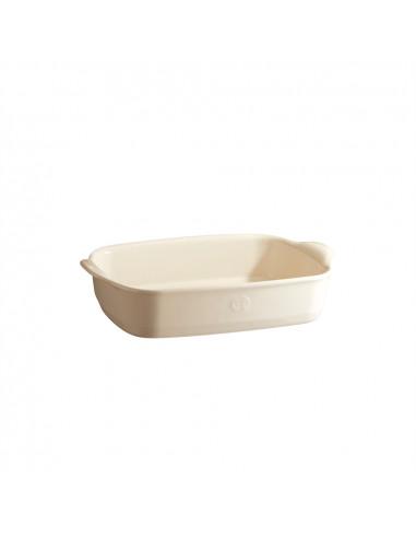 """Керамична провоъгълна форма за печене """"RECTANGULAR OVEN DISH""""- 36,5 х 23,5 см - цвят екрю - EMILE HENRY"""