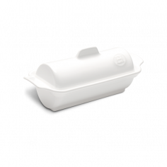 "Керамична форма за терин ""MEDALLION TERRINE"" - 24,5 х 10 см - цвят бял - EMILE HENRY"