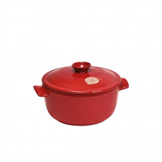 """Керамична тенджера с капак """"ROUND STEWPOT"""" -  2,5 л - Ø 22,5 см - цвят червен - EMILE HENRY"""