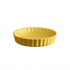 """Керамична дълбока форма за тарт """"DEEP FLAN DISH"""" - Ø 24 см - цвят жълт - EMILE HENRY"""