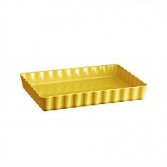"""Керамична провоъгълна форма за тарт """"DEEP RECTANGULAR TART DISH """"- 33,5 х 24 - цвят жълт - EMILE HENRY"""