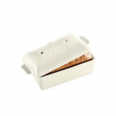 "Imagén: Керамична правоъгълна форма за печене на хляб ""BREAD LOAF BAKER"" - 28 х 13 х 12 см - цвят екрю - EMILE HENRY"