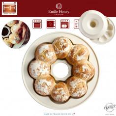 """Керамична кръгла форма за печене на питки """"CROWN BAKER"""" - Ø 30,5 см - цвят екрю - EMILE HENRY"""