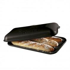 """Керамична форма за печене на багета """"BAGUETTE BAKER"""" - 39,5 х 23 см - цвят черен - EMILE HENRY"""