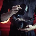 """Керамична дълбока тенджера с капак """"ONE POT"""" -  2 л - Ø 22,5 см - цвят черен - EMILE HENRY"""