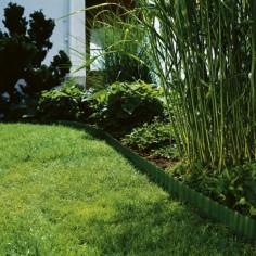 Мини лента за цветни лехи, зелена - 9 м x 15 см