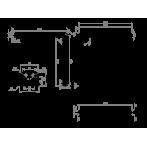 Праг за оформяне на душ зона Перла 579090008