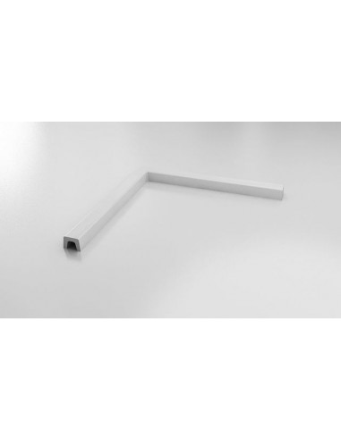 Праг за оформяне на душ зона, Полимермрамор, 90х90 см, прав ъгъл