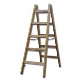 Дървена стълба Stabilomat Safemat, 2х5 стъпала