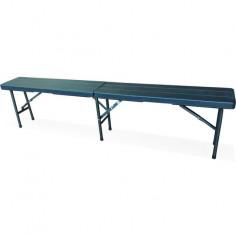 Imagén: Къмпинг пейка - 180 см, антрацит - сгъваема