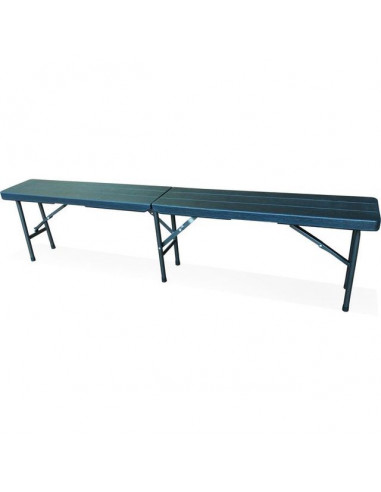 Къмпинг пейка - 180 см, антрацит - сгъваема