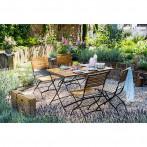 Сгъваем градински стол, акация