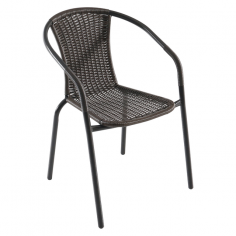 Градински ратанов стол - 54x53x74 см, кафяв