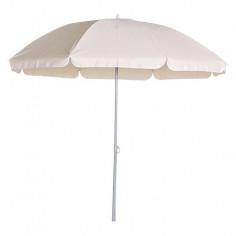 Плажен чадър 2.5 м, натурален