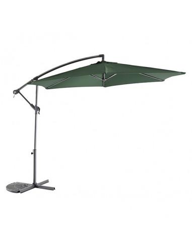 Градински чадър - тип камбана - тъмнозелен, диаметър - 3 м