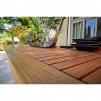 Градинска маса - 220х100 см, стомана, акациева дървесина