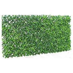 Декоративна ограда Хармоника лукс плюс - С изкуствено озеленяване, 200х100 см, зелена