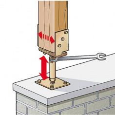 Усилена подпора за подов монтаж Stabilit, горещо поцинкована, регулируема, 70-140/140-200 мм