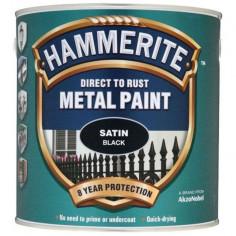 Боя Hammerite, сатен, черна - 2,5 л