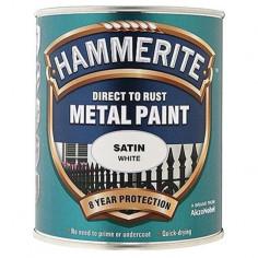Боя Hammerite, сатен, бяла - 2,5 л