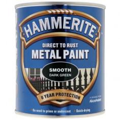 Боя Hammerite, гланц, зелена - 2,5 л