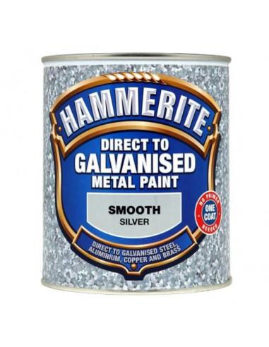 Боя за специални метали Hammerite, сребриста, 750 мл - 2,5 л