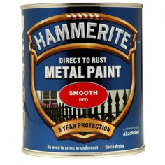 Боя Hammerite, гланц, червен - 2,5 л