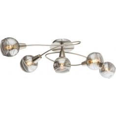 LED спот Roman, 5xЕ14, никел мат, опушено стъкло